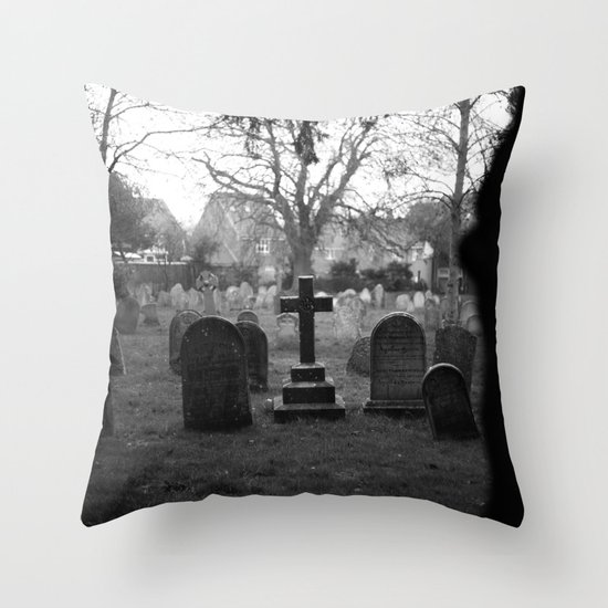 Cemetery. Throw Pillow