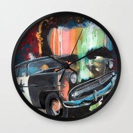 Ford Fairlane 1955 + JamesDean Wall Clock