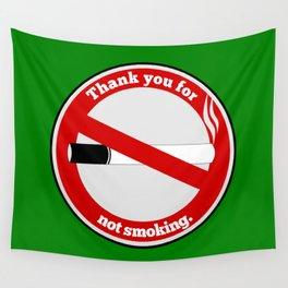 No Smoking Wall Tapestry