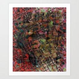 Fenêtre et mousse Art Print