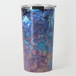 Waterfall. Rustic & crumby paint. Travel Mug