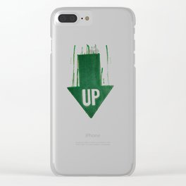up is down Clear iPhone Case