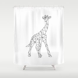 Geometric Giraffe Shower Curtain