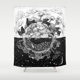 '龜兔再賽跑 The Tortoise and the Hare: Rematch' Illustration 4 Shower Curtain