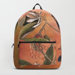 Blue Grosbeak with Sweetbay Magnolia, Vintage Natural History and Botanical Backpack