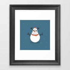 Day 16/25 Advent - Snow Trooper Framed Art Print