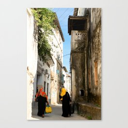 Women on their travels. Canvas Print