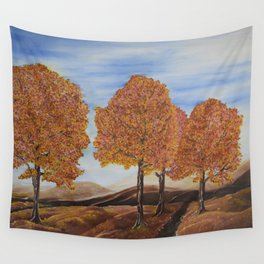 Fall trees Wall Tapestry