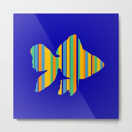 Goldfish Stripes Metal Print