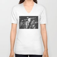 jesus V-neck T-shirts featuring Jesus by Dash Kadam