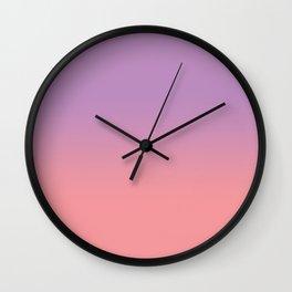 Purple pink blend Wall Clock
