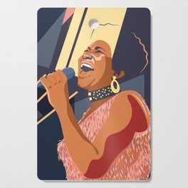 Aretha Franklin Portrait Cutting Board