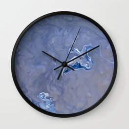 Above Silver Wall Clock