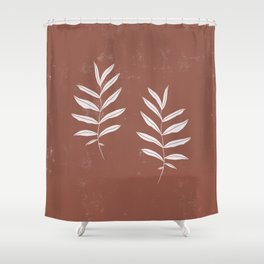 Abstract Leave Pattern Shower Curtain