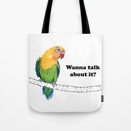 Lovebird Listener Tote Bag