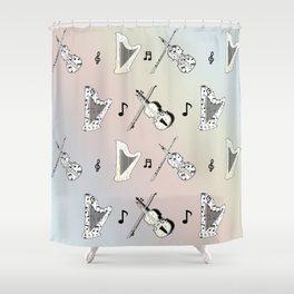 Orchestra Music Shower Curtain