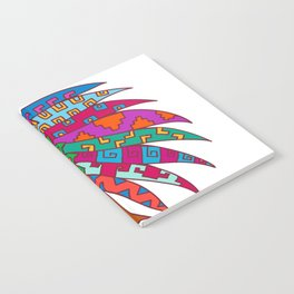 Ancient Aztec Headdress Drawing Color Notebook