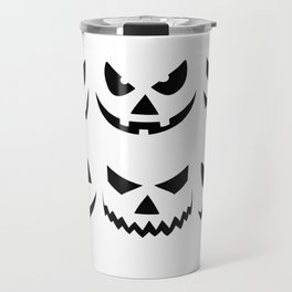 Scary Pumpkin Faces Halloween Day Travel Mug