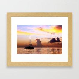 Sunset Sailboat (Horizontal) Framed Art Print
