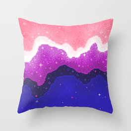 Genderfluid Pride Galaxy Throw Pillow