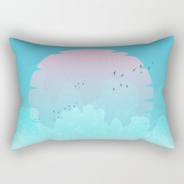 Between two waters Rectangular Pillow