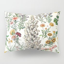 Adolphe Millot - Fleurs B - French vintage poster Pillow Sham