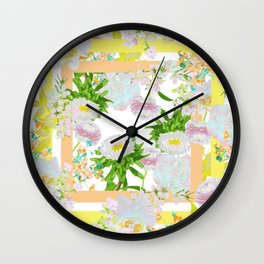 Floral Frame Collage Wall Clock