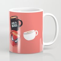 persona Mugs featuring Workday Persona  by vonhagee
