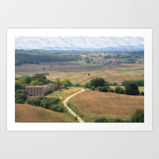 Tuscan Vista Art Print