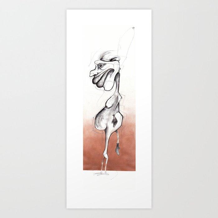 A genital accident  Art Print