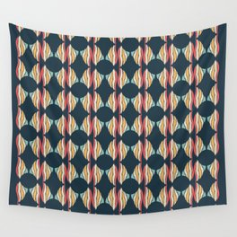 Oval and Diamond Sillouette Pattern Wall Tapestry