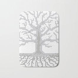 Pixel Art - Cross Stitch Chart - Grey Tree of Life - Bath Mat