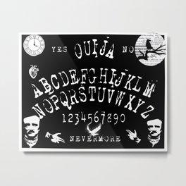 Edgar Allan Poe Ouija Board Art Metal Print