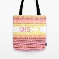 disco Tote Bags featuring Disco by Gaba Blua