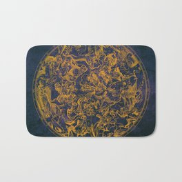 Vintage Constellations & Astrological Signs | Purple Galaxy Bath Mat