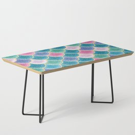 Glittery Mermaid Scales Coffee Table