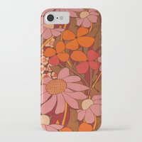 50s iPhone & iPod Cases featuring Crazy pinks 50s Flower  by Follow The White Rabbit