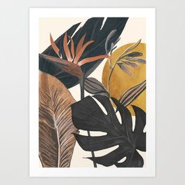 Abstract Tropical Art III Art Print