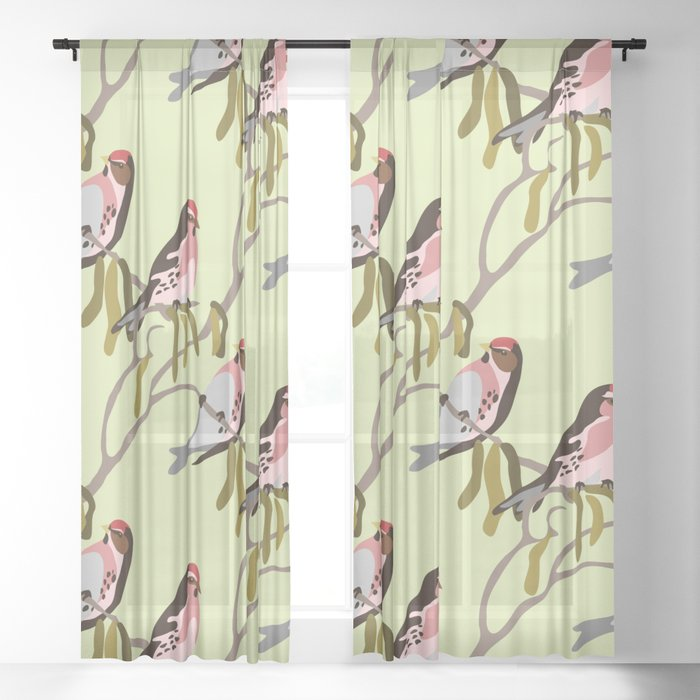 springtime Sheer Curtain