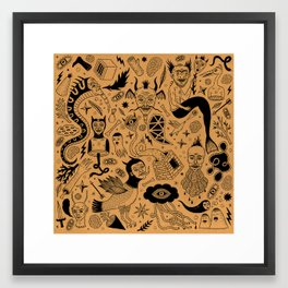 Curious Collection No. 1 Framed Art Print