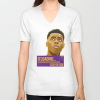 lakers V-neck T-shirts featuring d'loading by dmrz