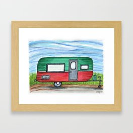 Watermelon Camper Trailer Framed Art Print
