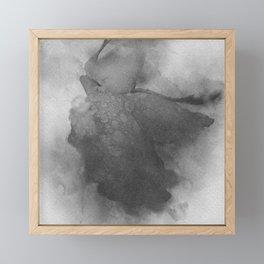 Trampled Rose Black and White Noise Framed Mini Art Print