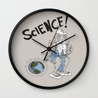 science Wall Clocks featuring SCIENCE! by FoodStamp Davis