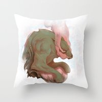 pain Throw Pillows featuring Pain by DockalGanger