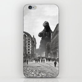 Old Time Godzilla in San Francisco iPhone Skin