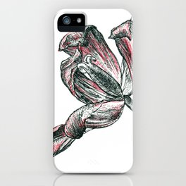 graphic flower iPhone Case