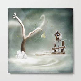Winter Season Metal Print