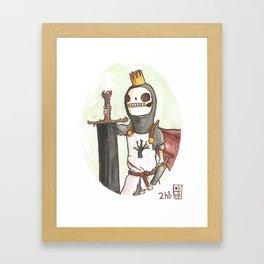 Skull King of the Obsidian Crown Framed Art Print