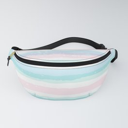 Pastel Stripe Wave Fanny Pack